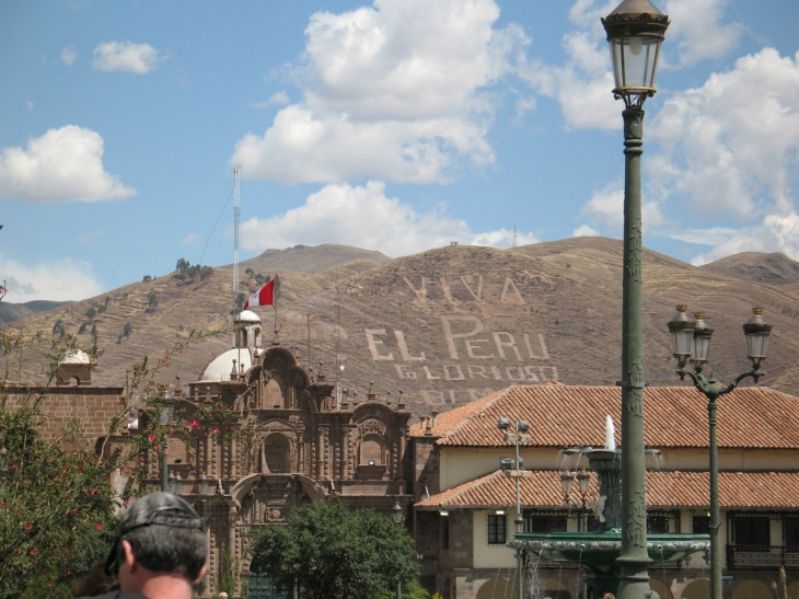 Bergsreklam i Cusco