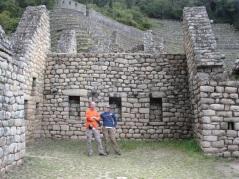 Ett boningshus i Wiñaywayna en gång i tiden.