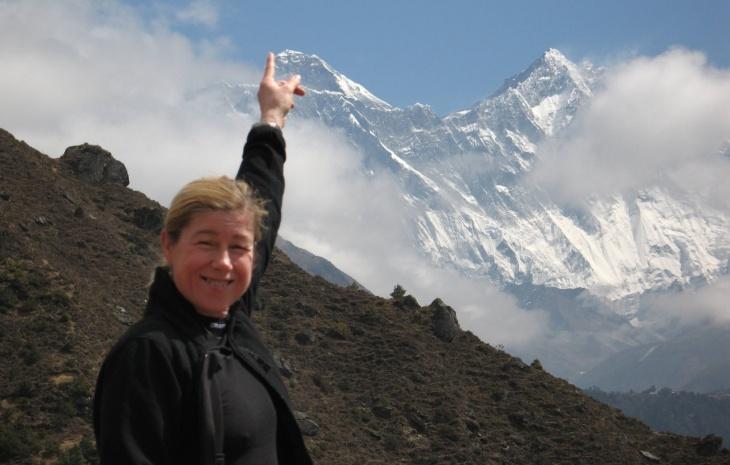 Erjas finger på Everest spets