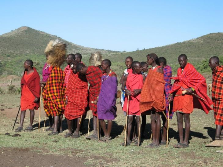 Färgglada masaier