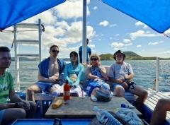 Andy, Jeremy, Shiori, Erja och Ross.