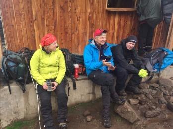 Checkpoint Barranco Hut. Jag, Bert och Martin.