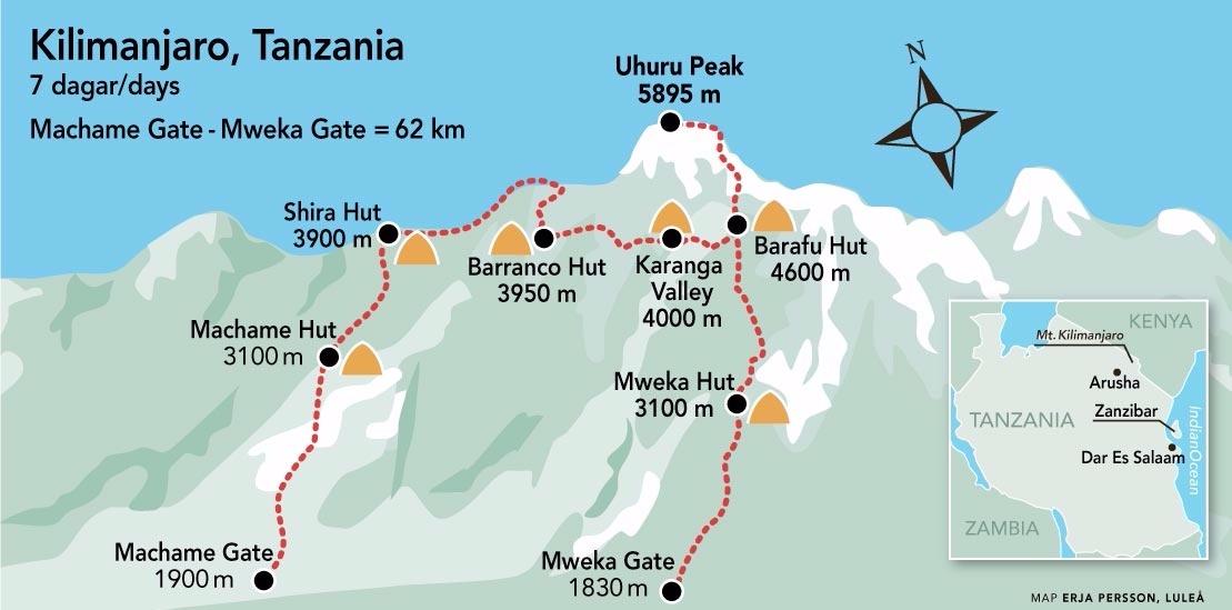 Kilimanjaro karta