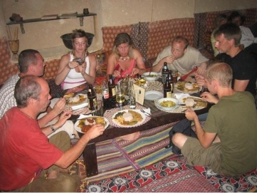 Sista middagen på Zanzibar.