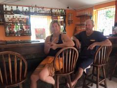 Kall Rum punsch i Soufrière.