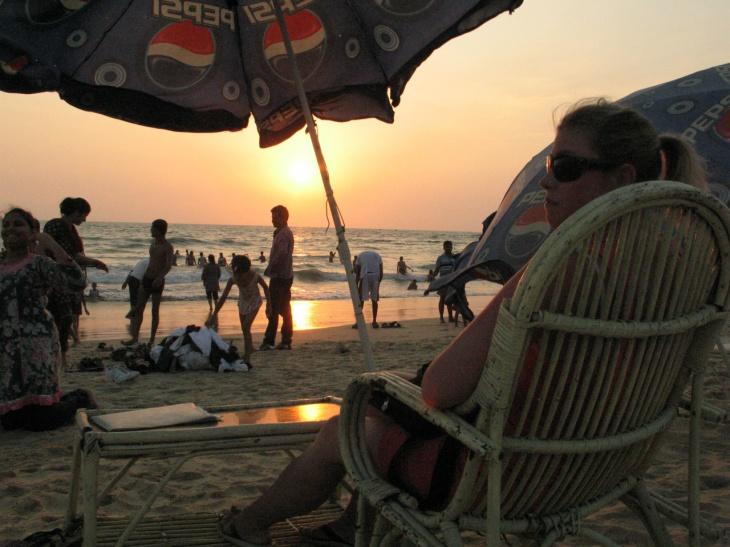 Goa solnedgång