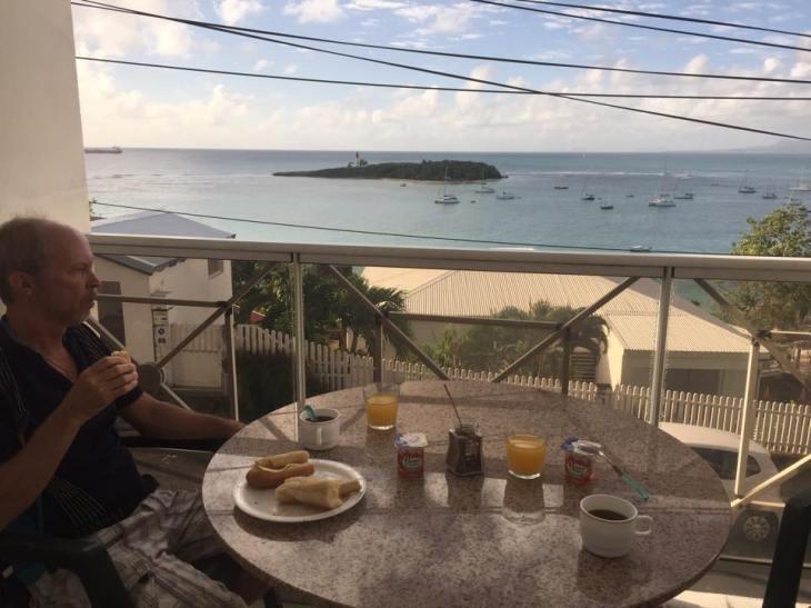 Guadeloupe balkongen