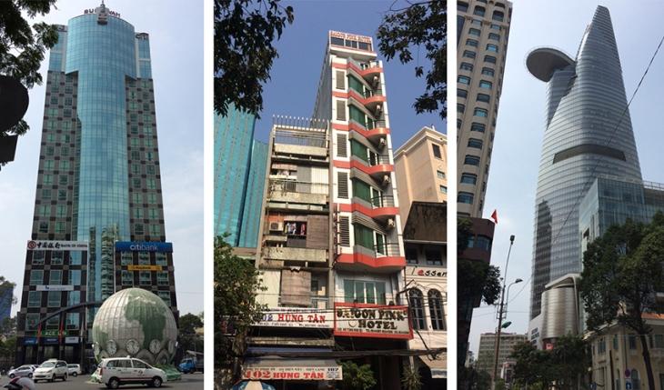 Höga smala byggnader