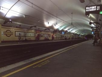 Bathurst tunnelbanestation är bevarad från förr och är samtidigt ett museum.