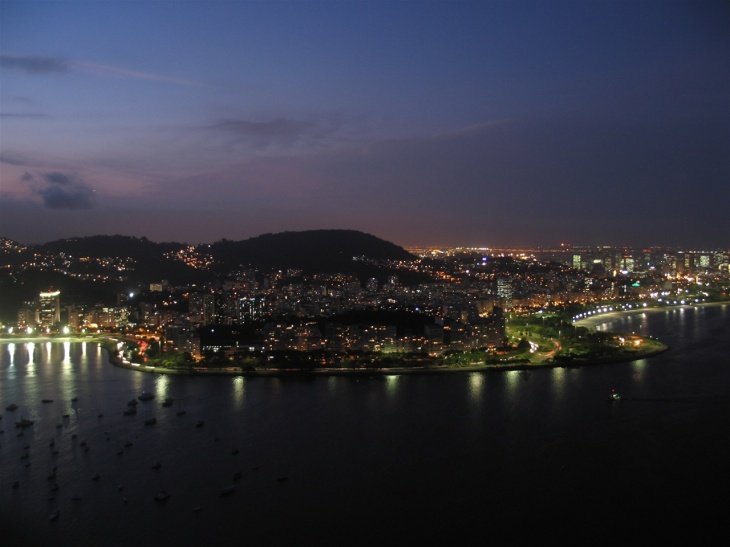 Rio Copacabana by night