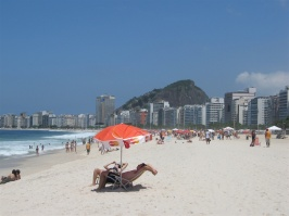 Copacabana beach mot Ipanema.