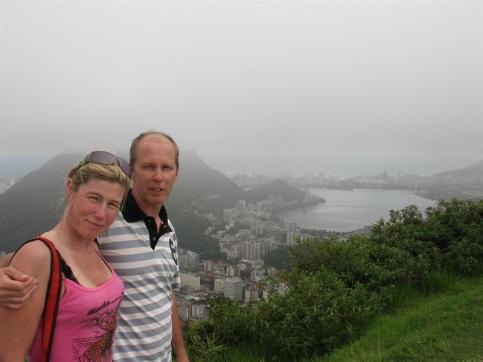 Corcovado med Rio nedanför.
