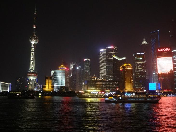 Shanghai Pudong från The Bund