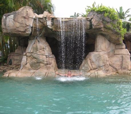Uppfriskande vattenfall.