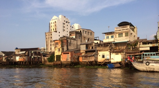 Längs Mekongdeltat.