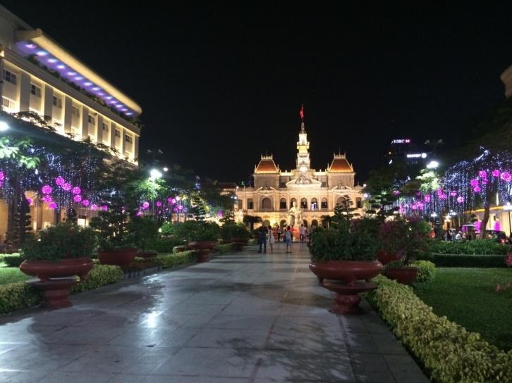 Vietnam Park på kvällen