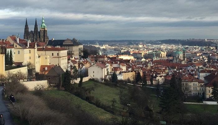 Vy över Prag.