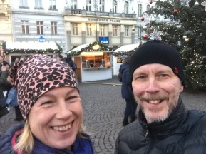 Vi har roligt i Prag.