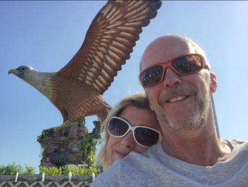 Selfie med örnen.