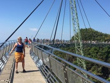Langkawi Sky bridge På bron
