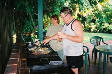 BBQ-middag på gång