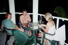 Kortspel på balkongen