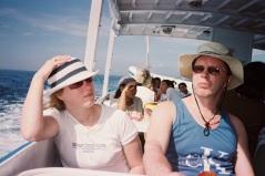 Erja & Henry på väg till Lembongan Island