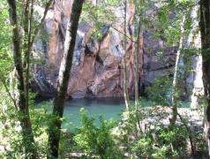 En härlig lagun mitt i regnskogen
