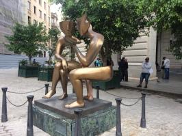 Etienne la Conversacion på Plaza San Fransisco.