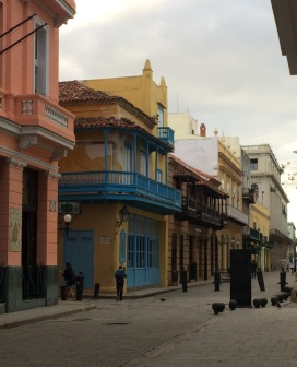 Färggranna byggnader.