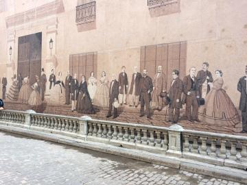 Kolonial väggkonst.